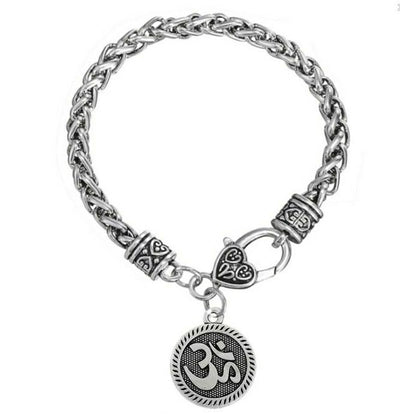 JWF™  🕉 Unique & Divine OM Metal Bracelet For Peace & Positive Mind