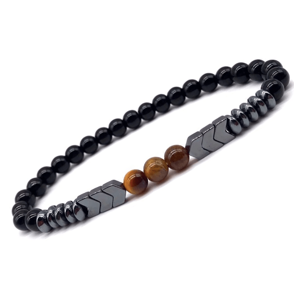 JWF™ New Lava Stone Geometric Beads Men Charm Bracelet