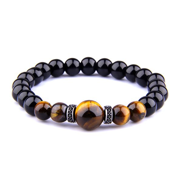 "JWF™ "" Self Awakening ""Tiger Eye Black Stone Bracelet For Health"