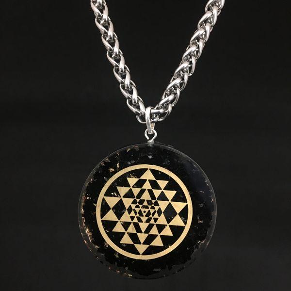 JWF™ Exclusive Stainless Steel Healing Lakshmi Sri Yantra Pendant For Peace & Health