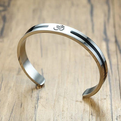 Om Engraved Bracelet with Stainless Steel