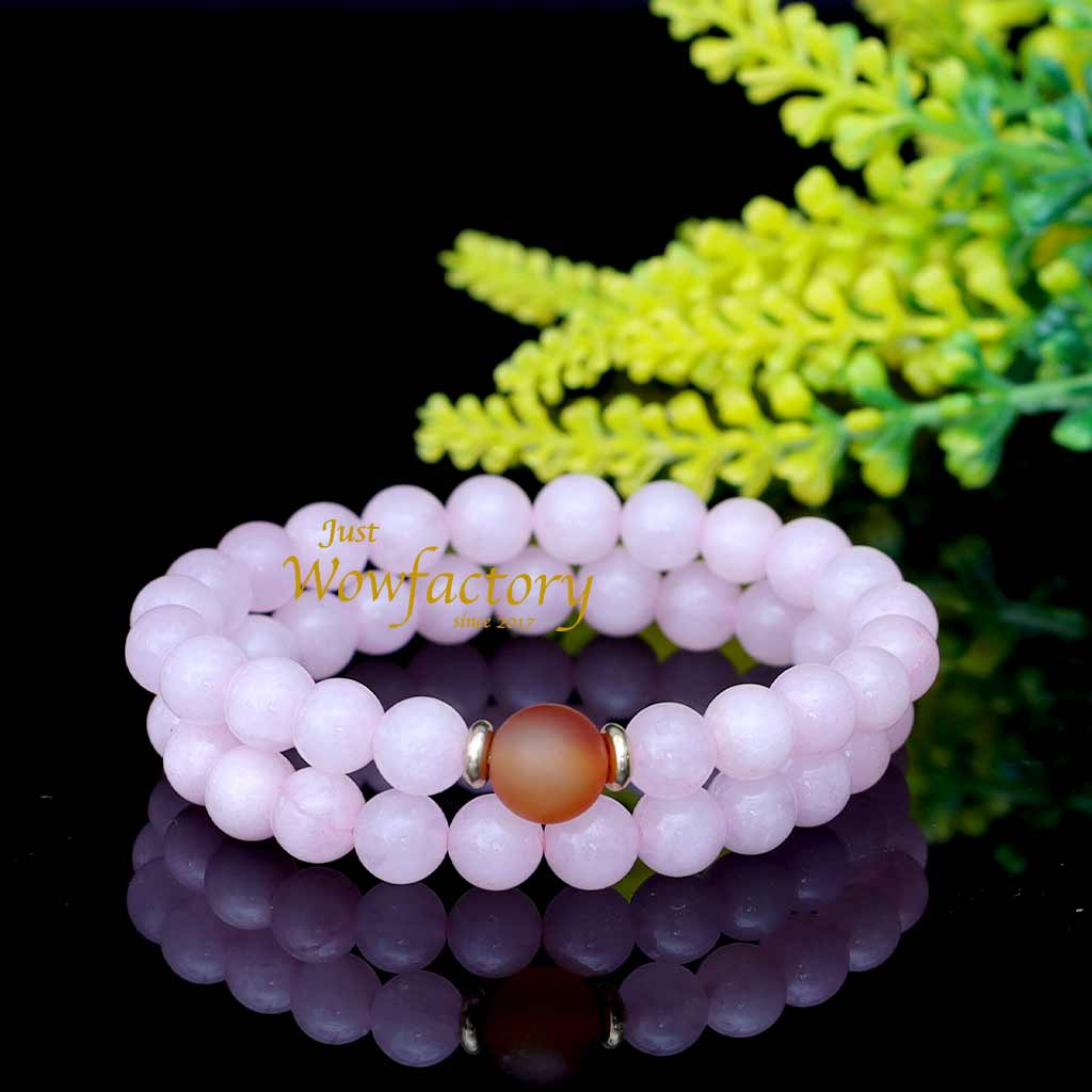The  Elegant Rose Quartz  Love Bracelet