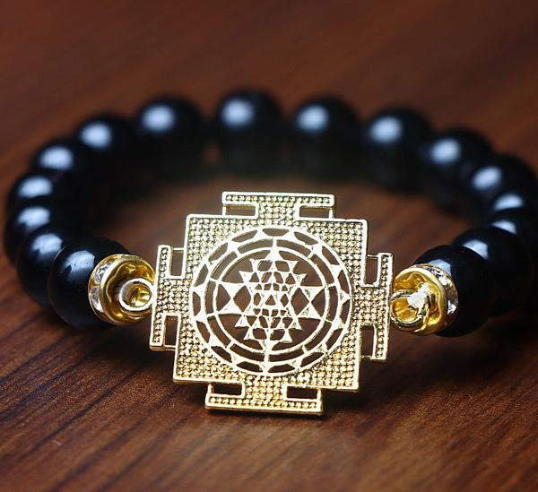 "JWF™  "" Fight Off Negativity and Envy"" Tiger's Eye Healing SriYantra Bracelet"