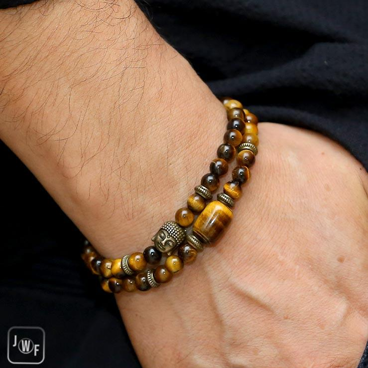 "JWF™ ""Good Decision Making"" Tiger Eye Buddha Mind Healing Bracelet"