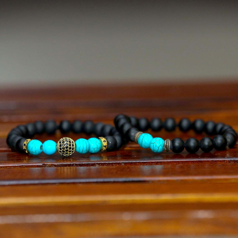 "JWF™ ""Communicate With Self Belief"" Turquoise Protection Bracelet"