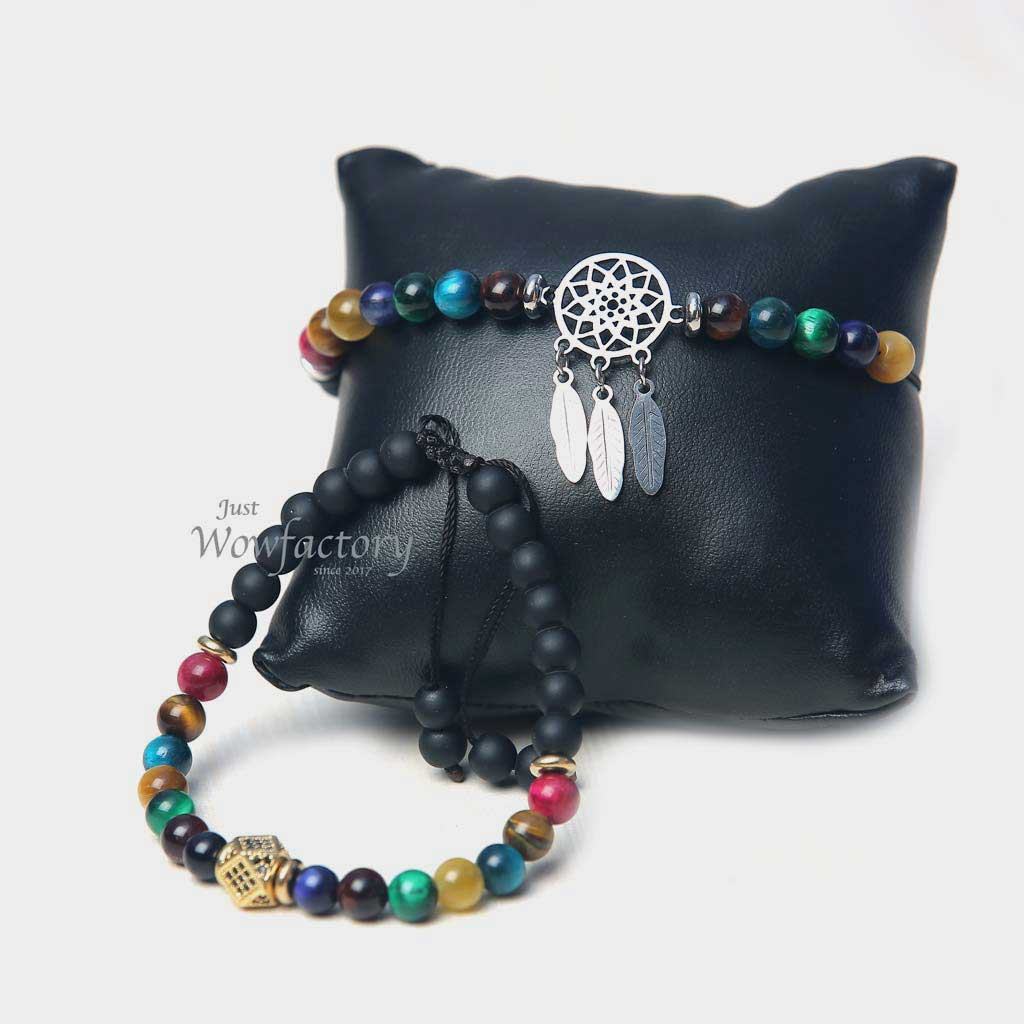 "JWF™ ""Admire Each other"" Premium Couple 7 chakra Bracelet"
