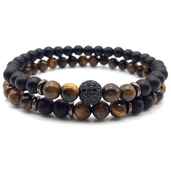 JWF™ Pure Tiger Eye Stone Bracelets Pair For Immense Focus, Health & Confidence