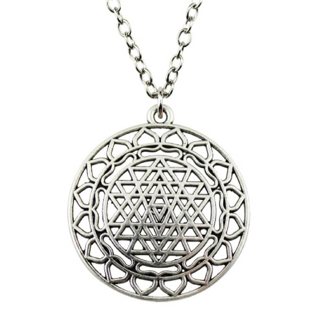 JWF™ Fine Quality Sri Yantra Metal Necklace Pendant: Crafted For You!
