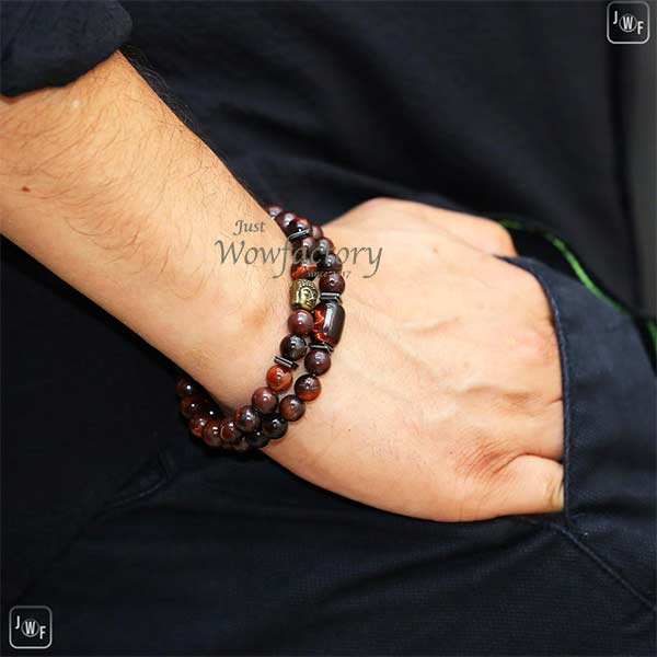 "JWF™  ""Enkindle Confidence & Positivity "" Red Tiger Eye Healing Stone Buddha Bracelet"
