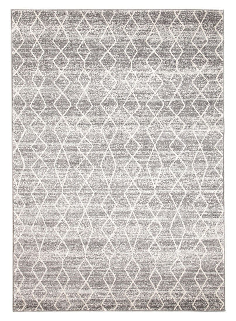 Hobokin Grey Diamond Distressed Rug
