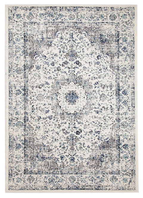 Nuuk Ivory & Blue Transitional Rug
