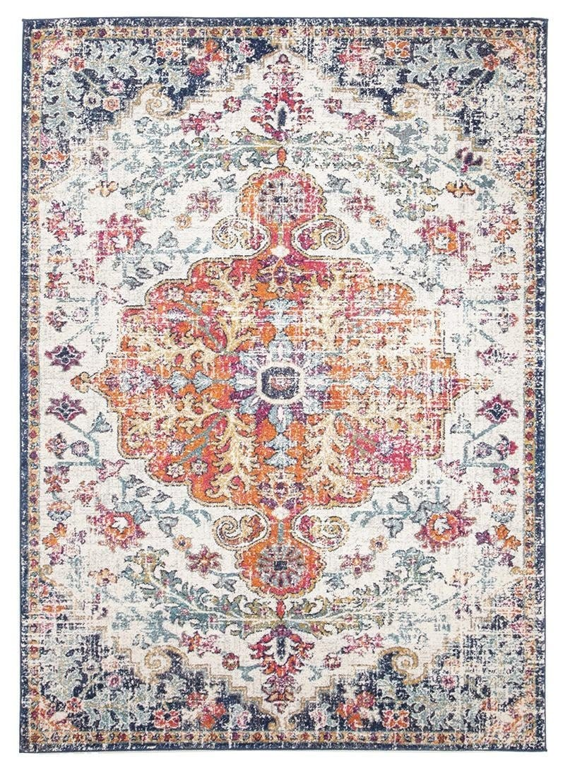 Alcati Multi-Colour Distressed Transitional Rug