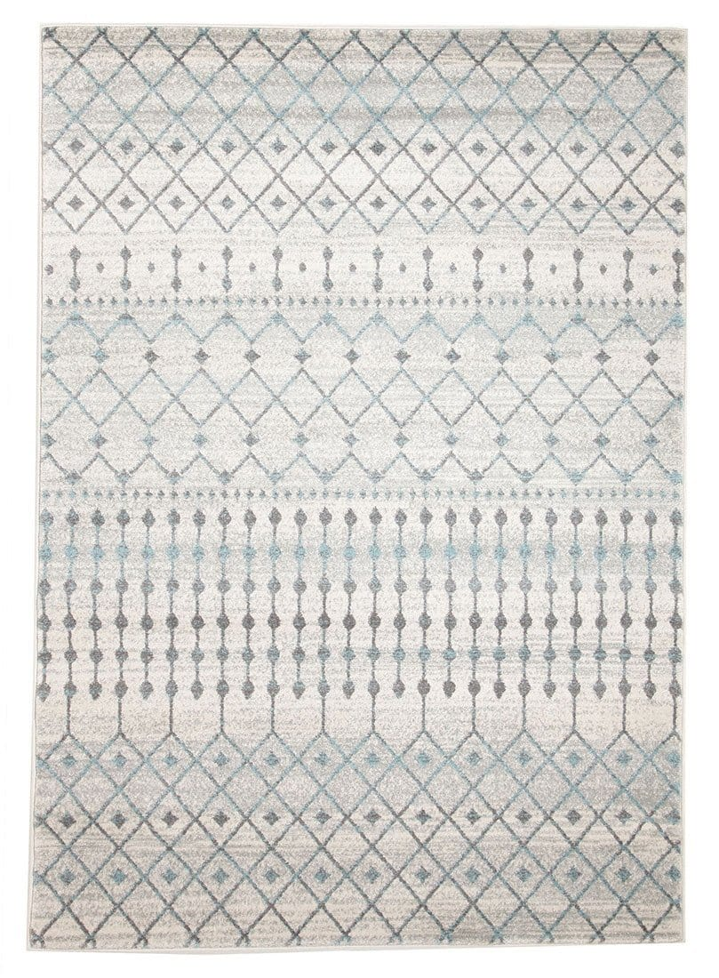 Gramercy Grey & Blue Distressed Rug