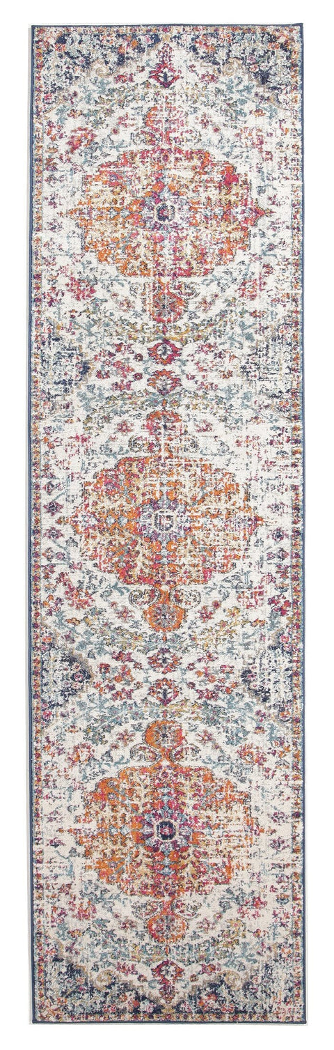 Alcati Multi-Colour Distressed Transitional Runner Rug