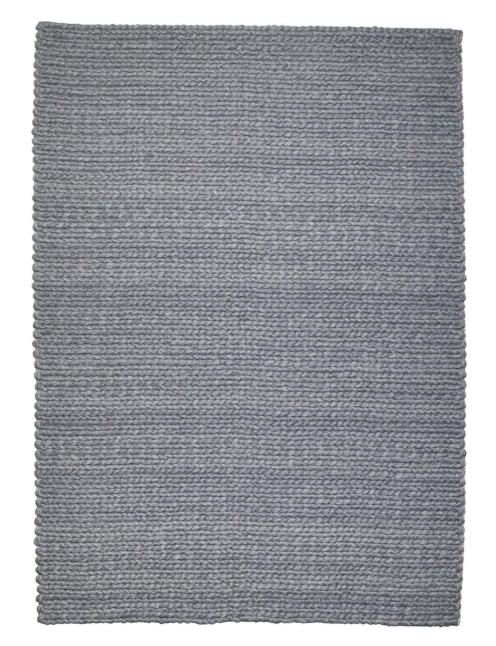 Aliya Grey Braided Wool Rug
