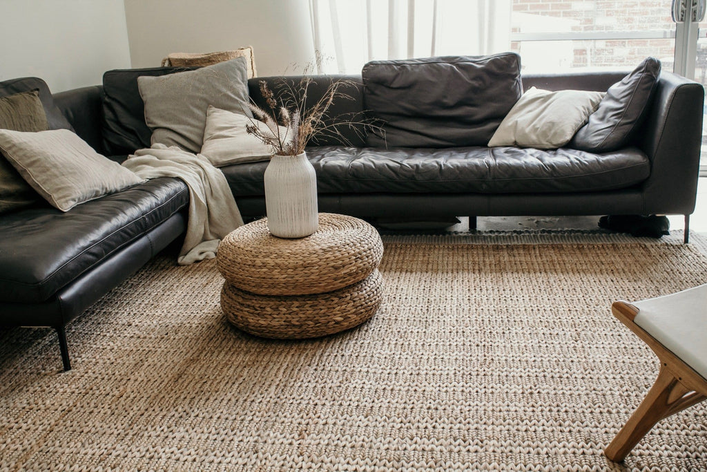 Amare Natural Braided Jute Rug