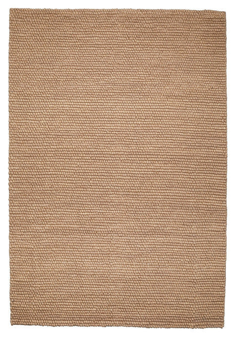 Aminah Camel Looped Wool Chunky Rug