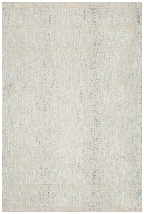 Araria Blue and Cream Transitional Rug