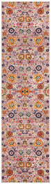 Bastia Grey Traditional Floral Runner Rug