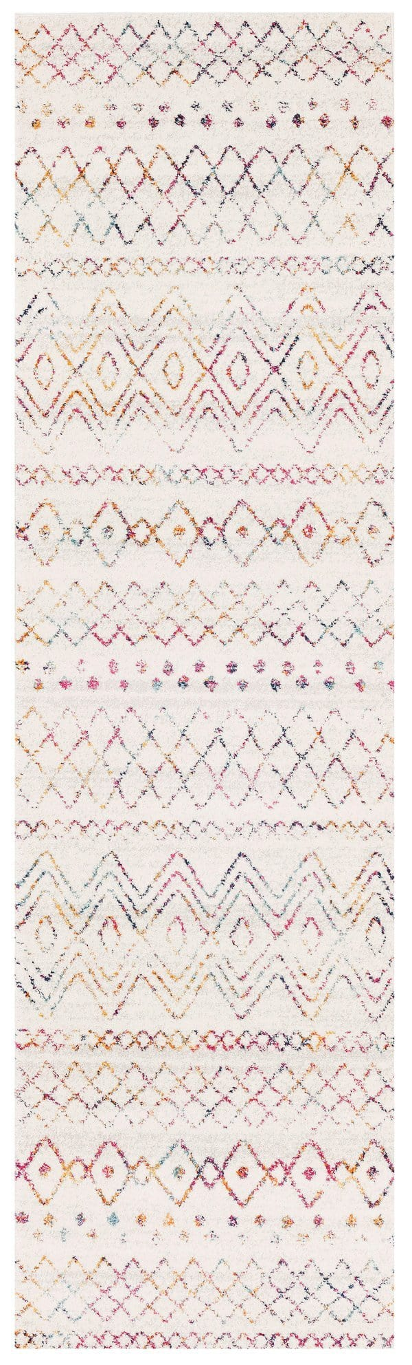 Casablanca Cream & Multi-Coloured Tribal Pattern Runner Rug