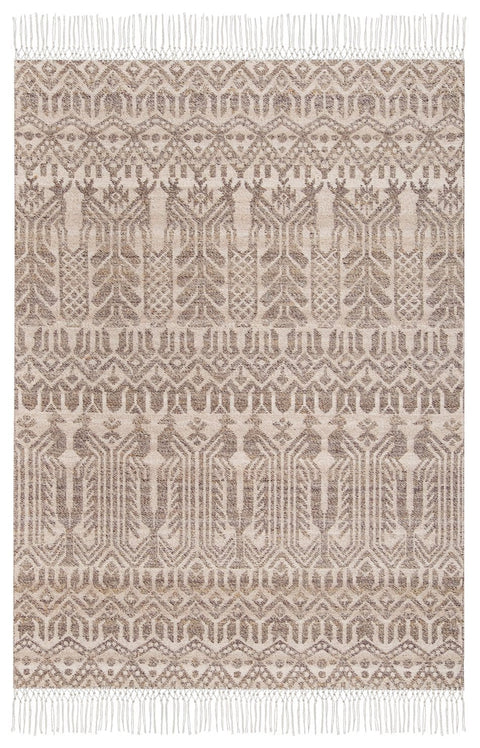 Elyse Beige and Grey Transitional Tribal Rug