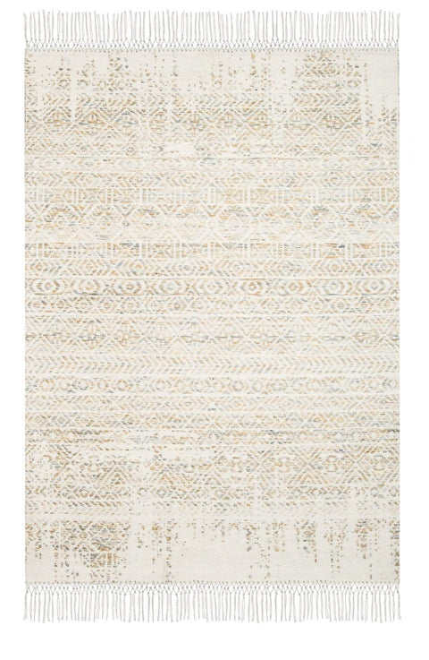 Gemma Blue and Orange Transitional Tribal Rug