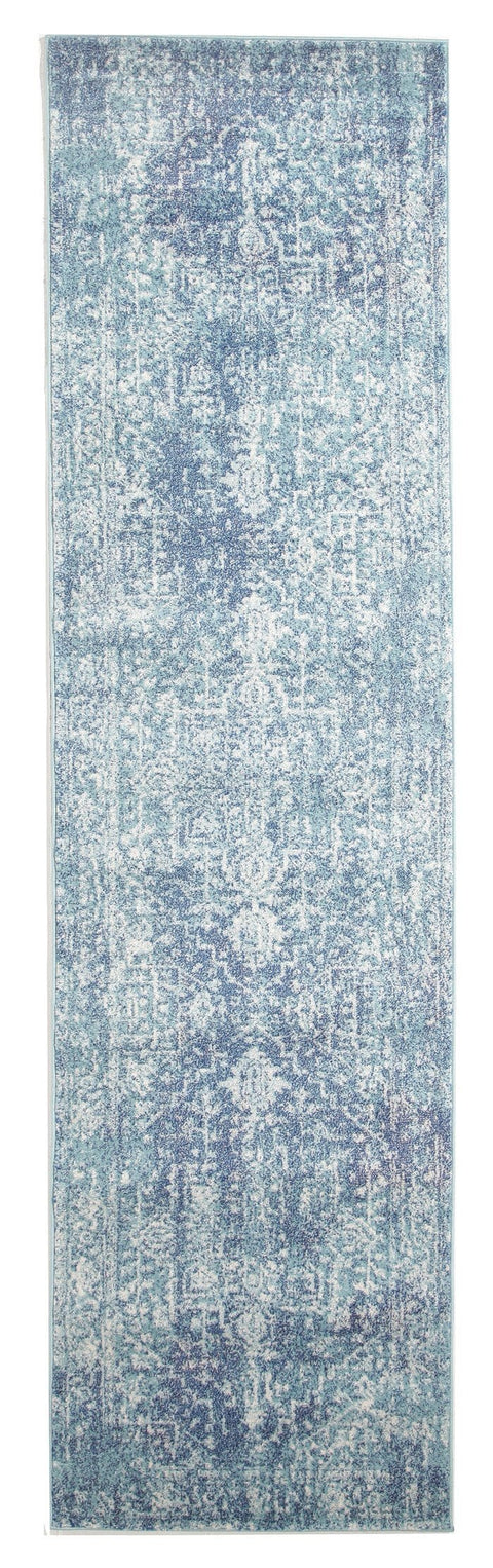 Hadera Blue Transitional Runner Rug