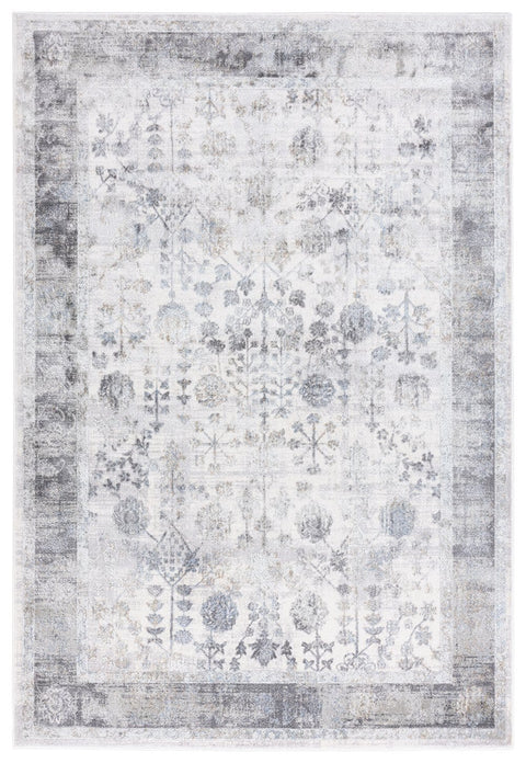 Harper Grey and Cream Faded Motif Rug
