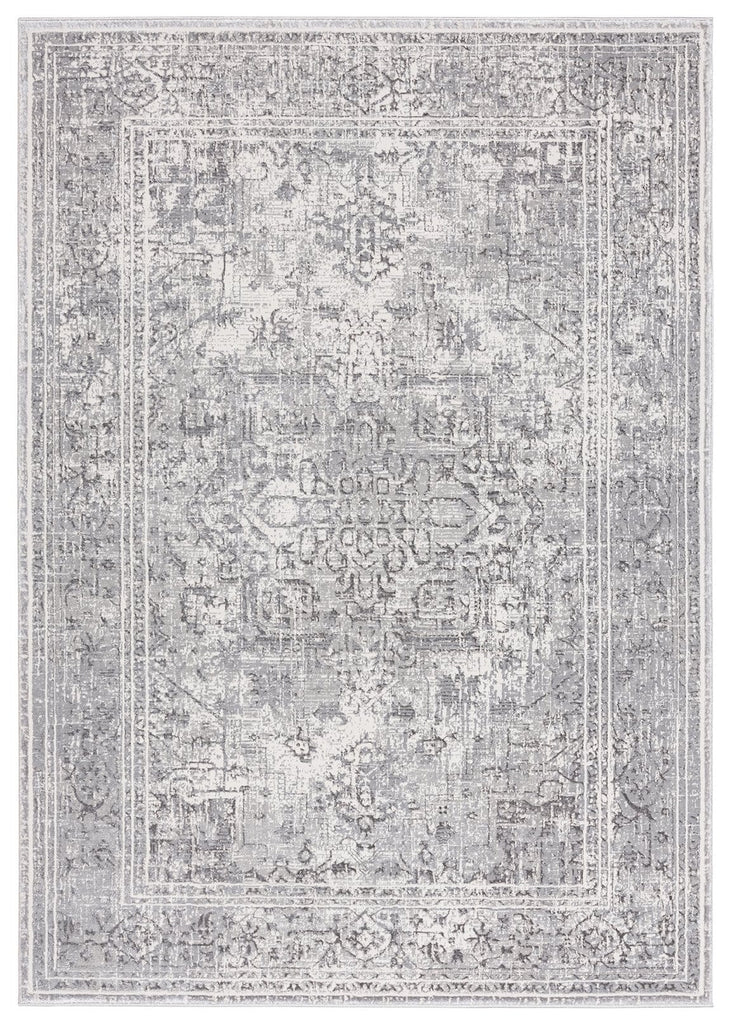 Harriette Faded Transitional Grey Rug