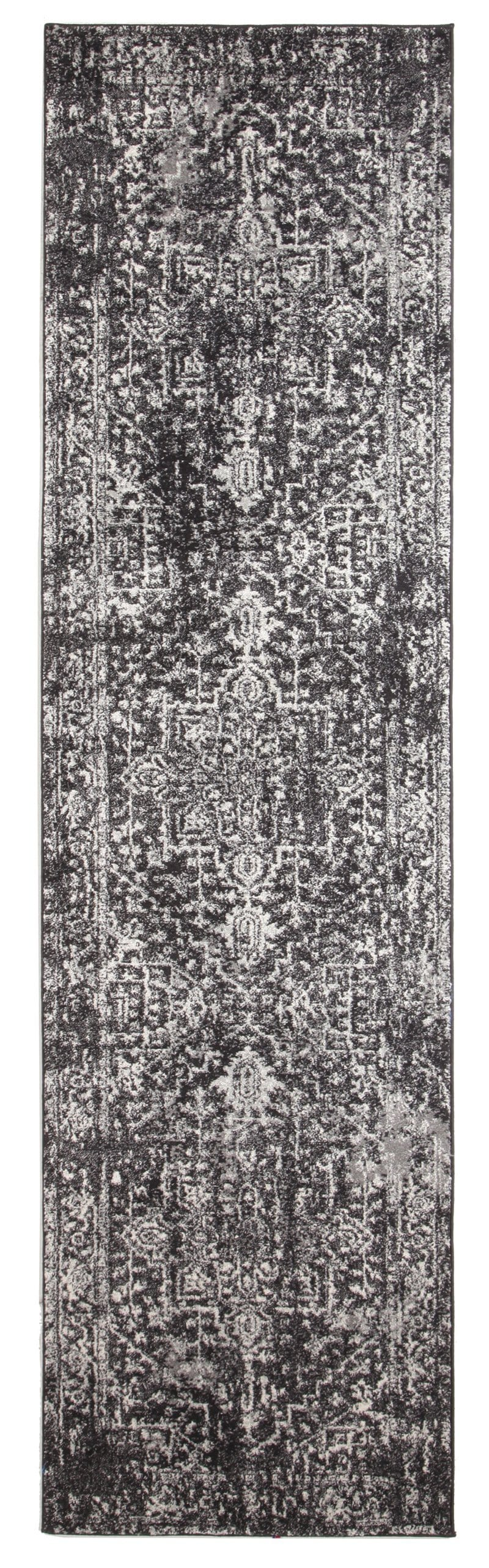 Harstad Charcoal Grey Transitional Runner Rug