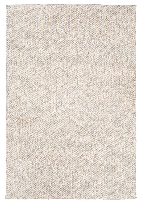 Joely Light Grey and Ivory Marble Looped Rug
