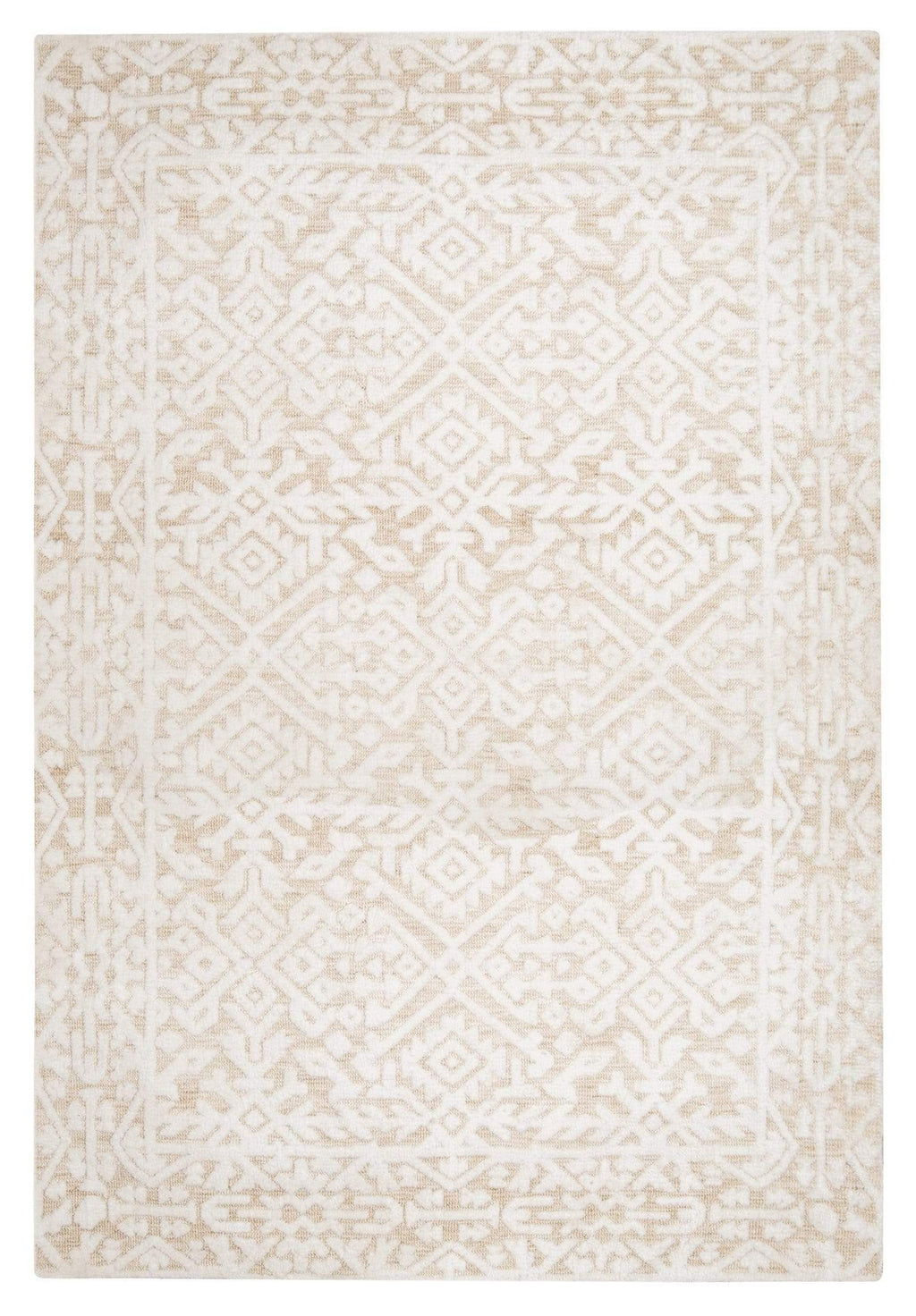 Josephine Ivory and Cream Tribal Transitional Rug