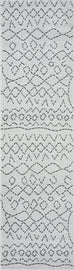 Junya Grey and Ivory Abstract Tribal Pattern Runner Rug