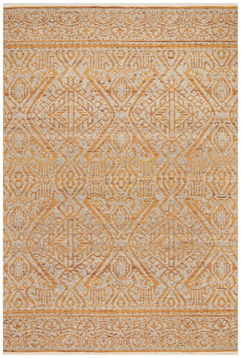 Ladik Orange and Beige Transitional Wool Rug