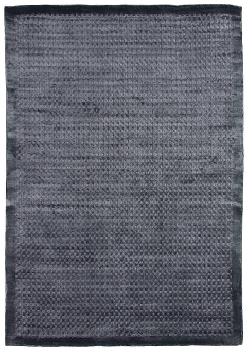 Lucerne Gunmetal Blue Dot Bordered Rug