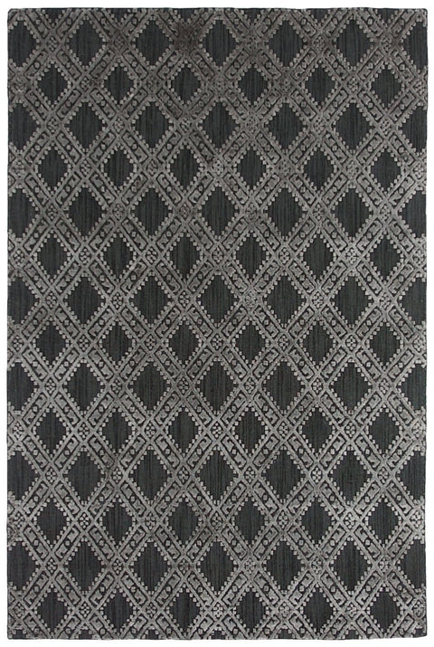 Madrid Charcoal Wool Blend Transitional Rug