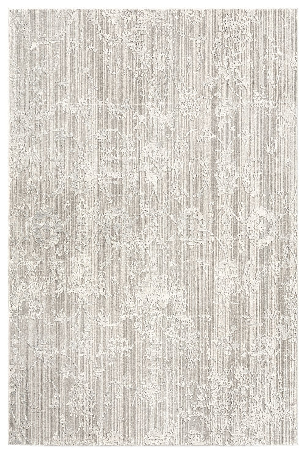Maeve Light Grey Ivory and Cream Traditional Floral Rug