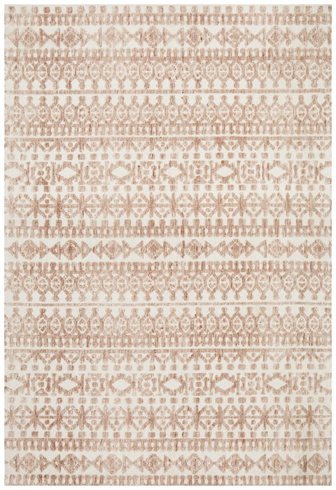 Mahe Peach and Cream Transitional Rug