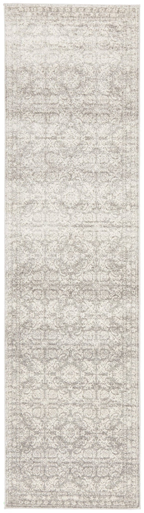 Malek Silver Grey Transitional Runner Rug