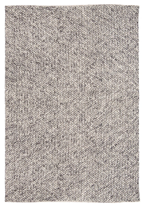 Milllicent Dark Grey and Ivory Marble Looped Rug