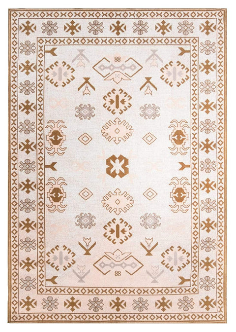 Mimi Peach and Beige Tribal Rug