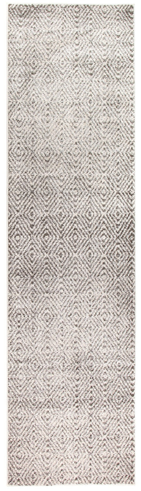 Oruro Ivory and Grey Diamond Tribal Pattern Runner