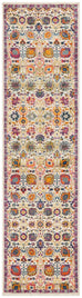 Oullins Multi Colour Traditional Floral Runner Rug