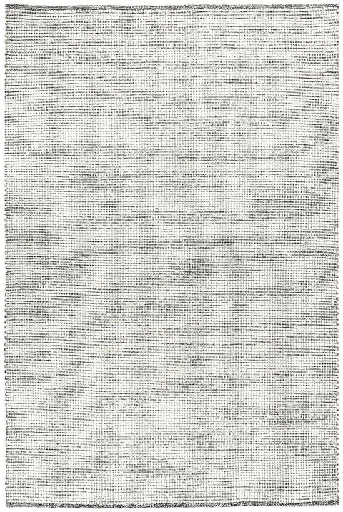 Patras Cream and Black Textured Flatweave Rug