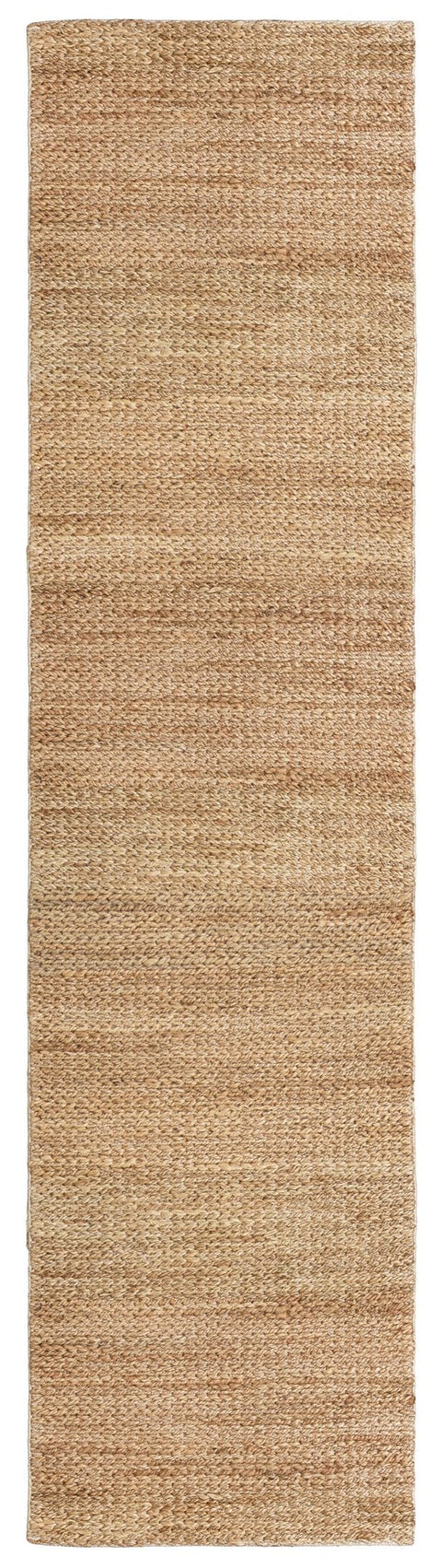 Raven Natural Tan Braided Jute Runner Rug