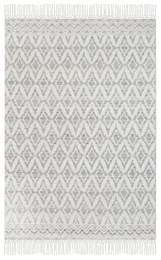 Rumi Blue and Ivory Transitional Tribal Rug