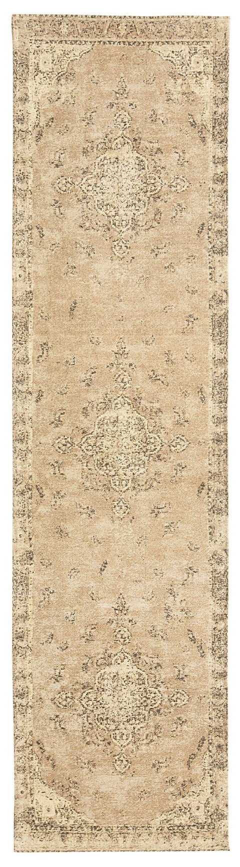 Sadie Coral Peach Turkish Style Distressed Runner Rug
