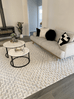 Sarita Ivory and Grey Geometric Textured Rug