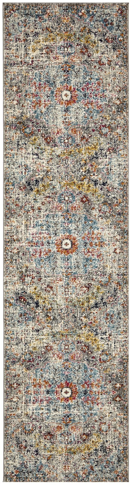 Shamkir Multi-Colour Traditional Floral Runner Rug