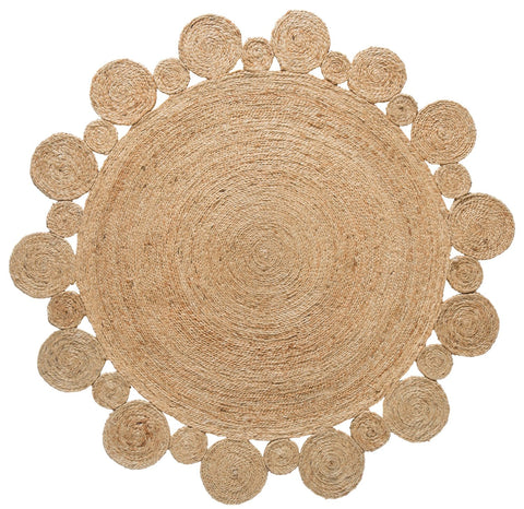 Shani Hand Made Circle Play Jute Rug